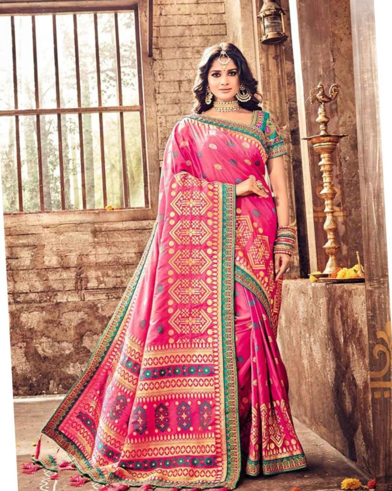 Chic Pink Indian Saree