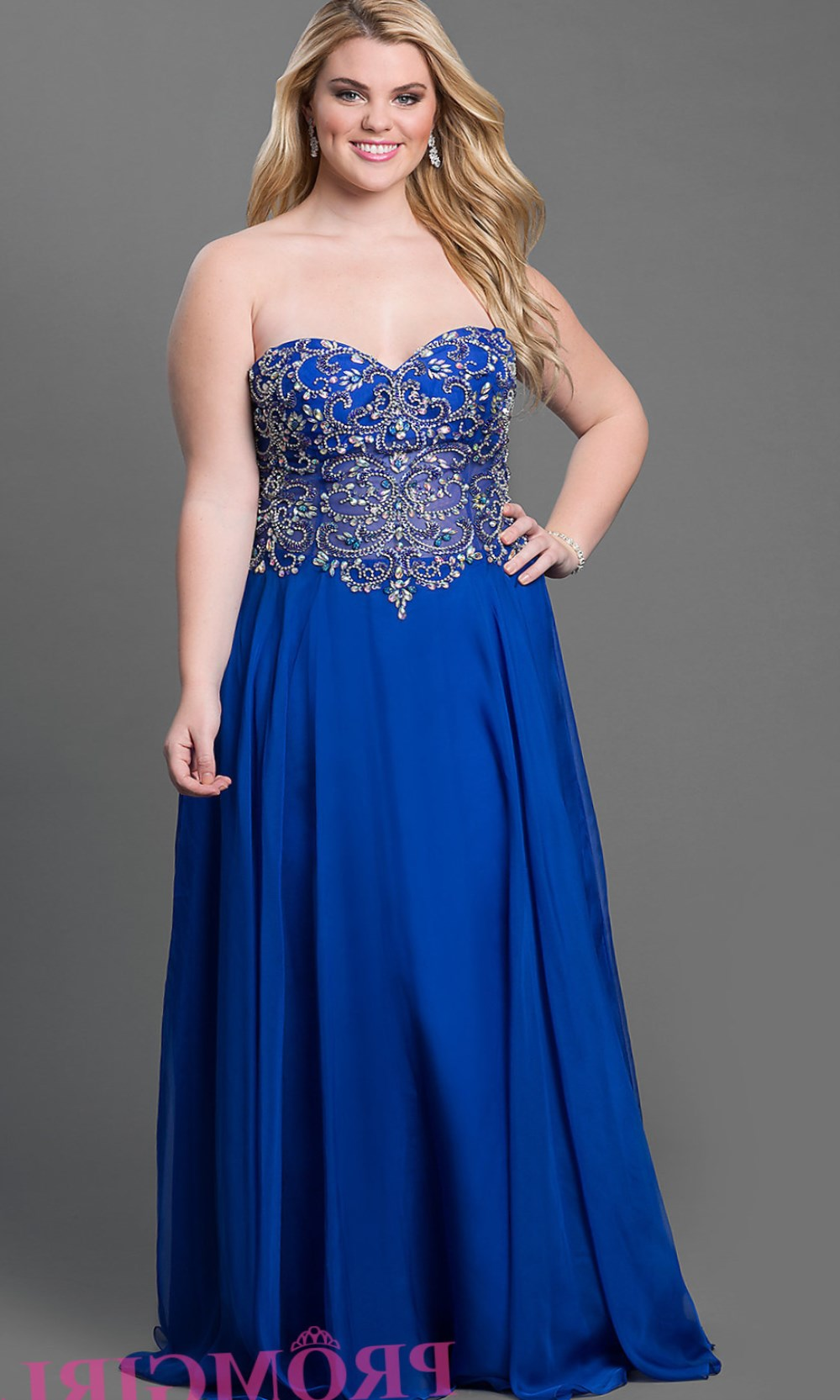 Plus Size Royal Blue Wedding Dresses