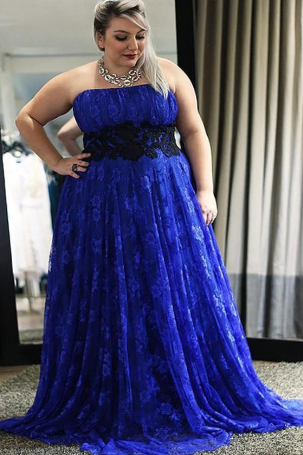9aa369f8abe76 Best Plus Size Royal Blue Wedding Dresses of 2019