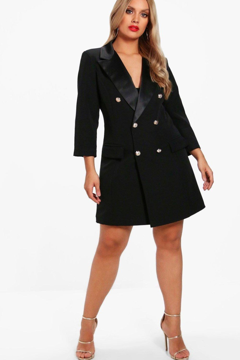 1f9a7b30c5 This tuxedo dress creates an hourglass figure and features a deep v-neck,  and is a wonderful fashion choice if you want to show your stunning figure  at a ...