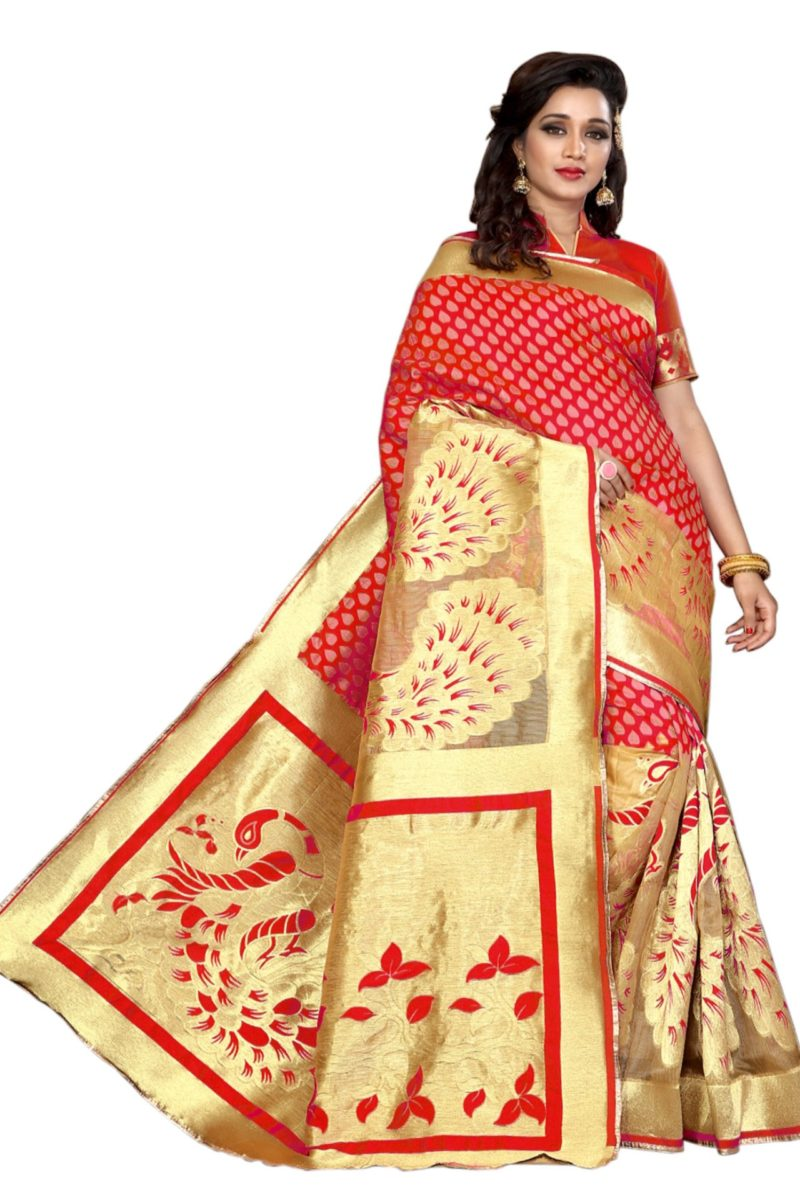 Red with Gold Emphasis Saree