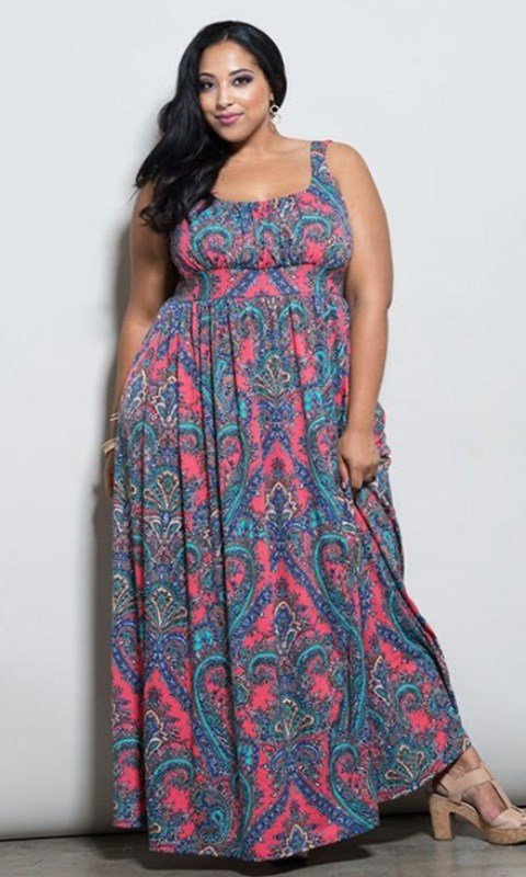 Plus size bohemian maxi dresses - style 2019 | Long boho womens dress