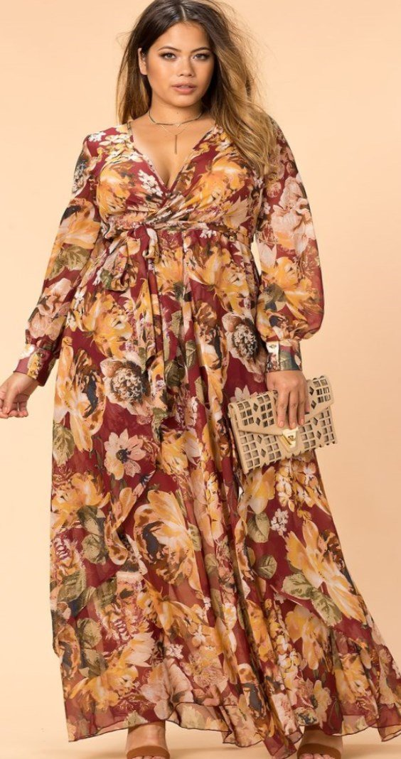 36ace37f02 This effect adds elegance to the wrap-around dress. Boho dresses with  beautiful patterns really ...