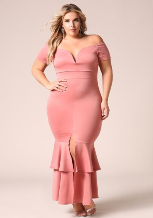ee3d32d047e Plus Size Pink Maxi Dress (2019) - Latest Trends