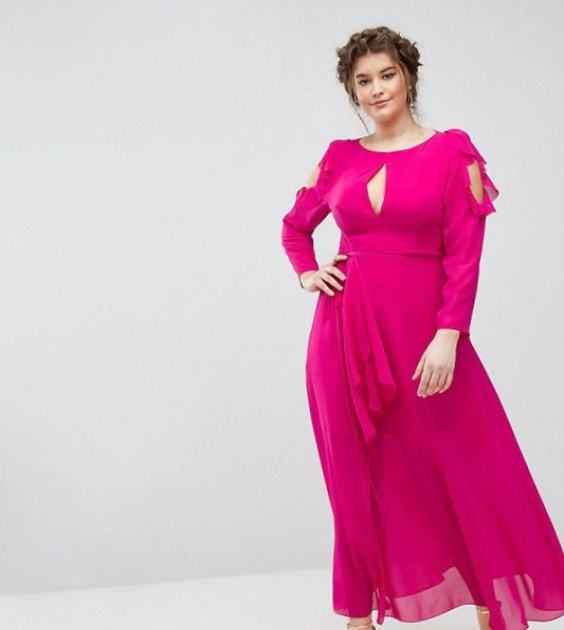 Plus Size Pink Maxi Dress (2019) - Latest Trends