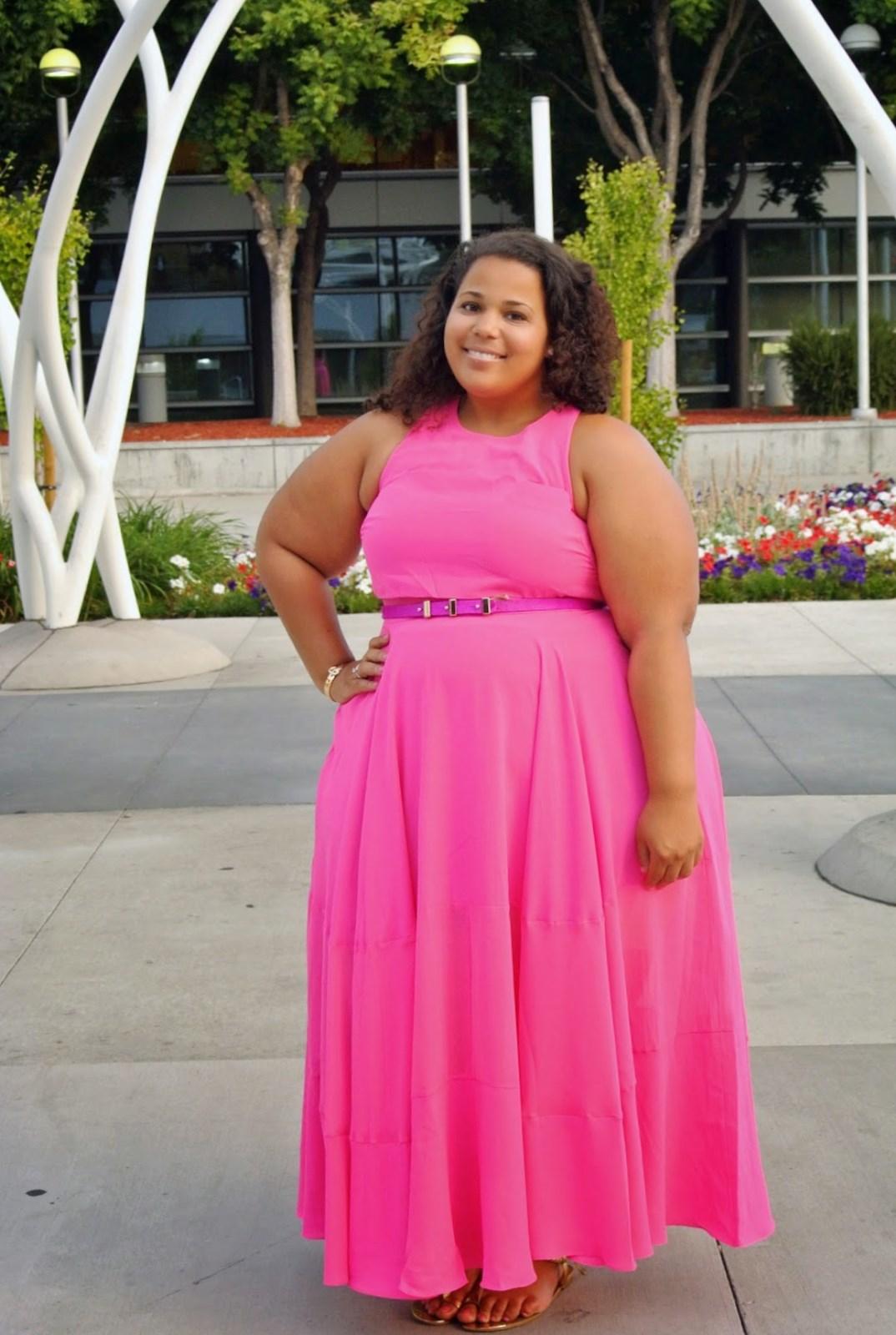 Plus Size Pink Maxi Dress (2019) - Latest Trends