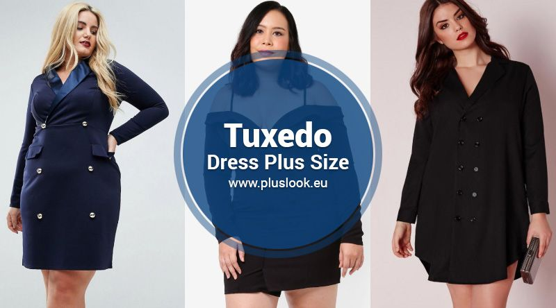 c7895ae780 Best Plus size tuxedo dress - Trend 2019 - Fall and Winter Edition